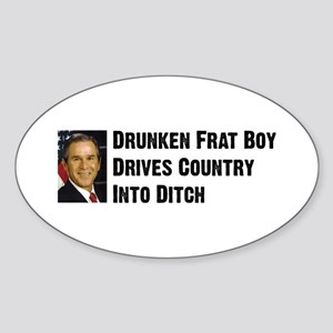 Drunken Frat Boy Oval Sticker